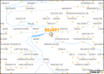 map of Bojary