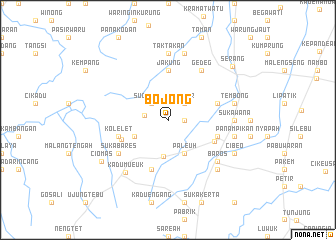 map of Bojong