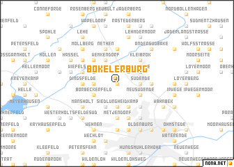 map of Bokelerburg