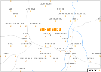 map of Bokérérou