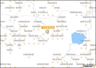 map of Bokern