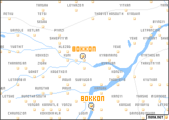 map of Bokkon