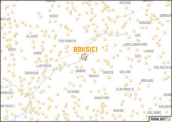 map of Bokšići