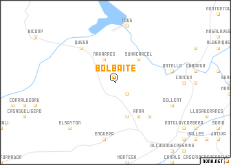 map of Bolbaite