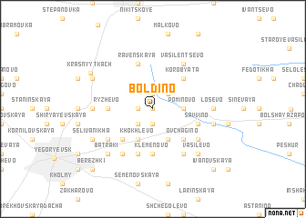 map of Boldino