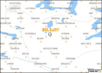 map of Bolejny