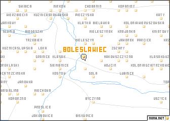 map of Bolesławiec