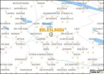 map of Bolesławów