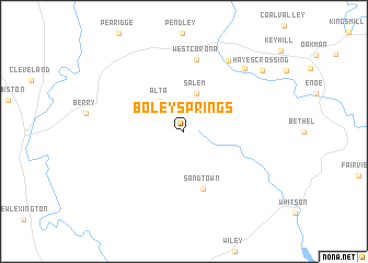 map of Boley Springs