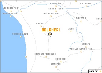 Bolgheri Italy Map Nona Net