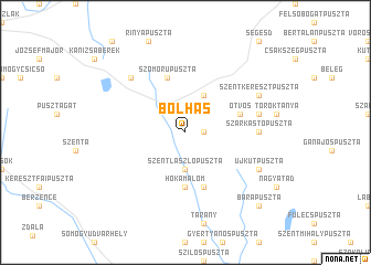 map of Bolhás