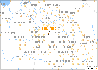 map of Bolinao