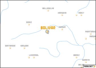 map of Bolívar