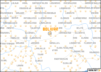 map of Bolívar