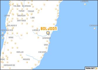 map of Boljoon