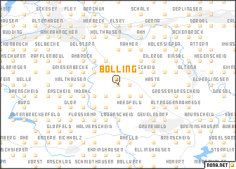 map of Bölling