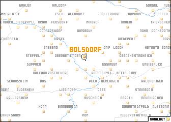 map of Bolsdorf