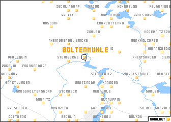 map of Boltenmühle