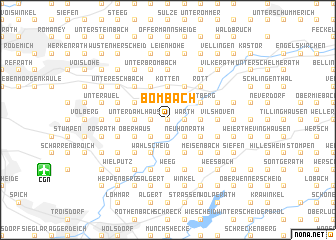 map of Bombach