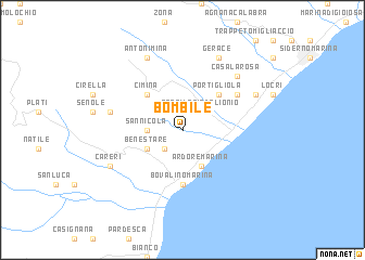 map of Bombile