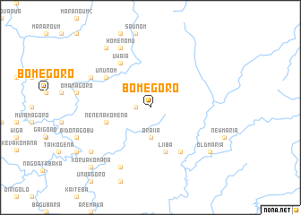 map of Bomegoro