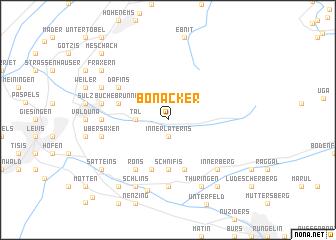 map of Bonacker