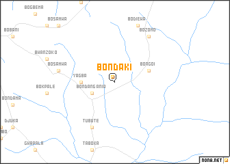 map of Bondaki