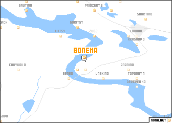 map of Bonema
