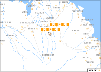 map of Bonifacio