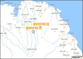 map of Bonifacio