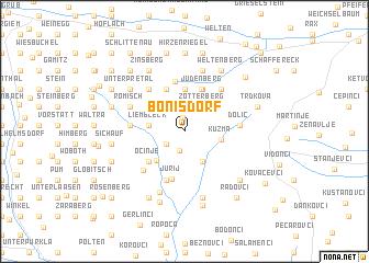 map of Bonisdorf