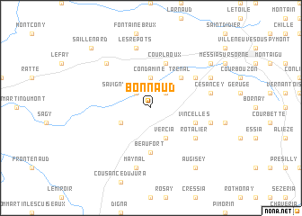 map of Bonnaud