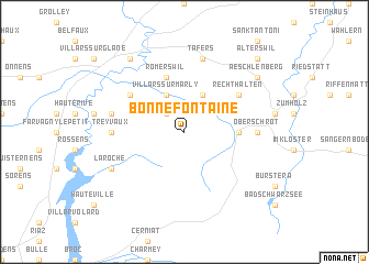 map of Bonnefontaine