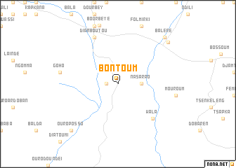 map of Bontoum
