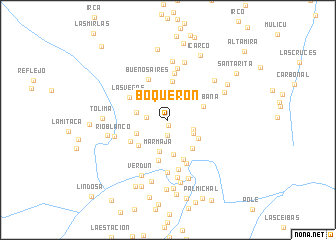 map of Boquerón