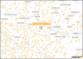 map of Borak Brdo
