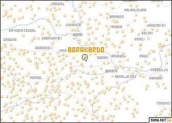 map of Borak Brdo