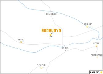 map of Boravaya
