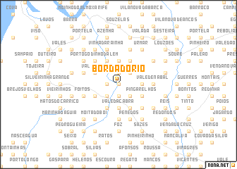 map of Borda do Rio