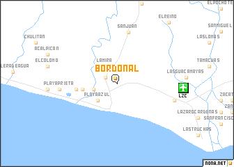 map of Bordonal