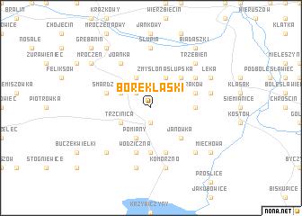 map of Borek Laski