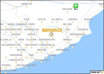 map of Borganzo