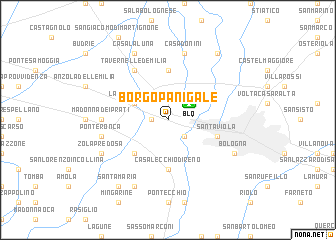 map of Borgo Panigale