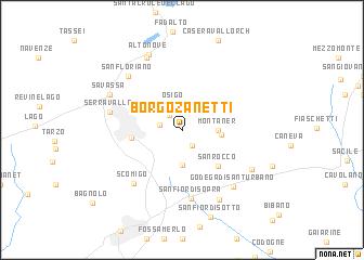 map of Borgo Zanetti