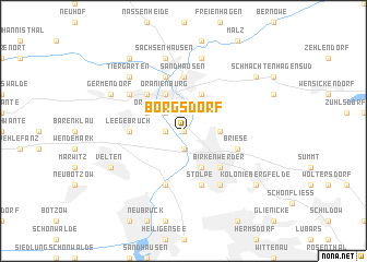 map of Borgsdorf