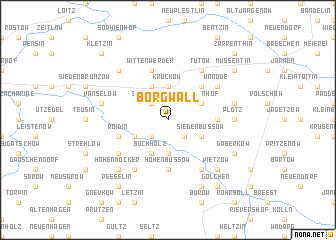 map of Borgwall