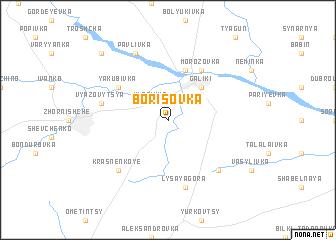 map of Borisovka