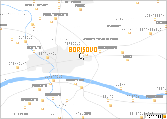 map of Borisovo