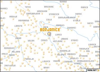 map of Borjanice