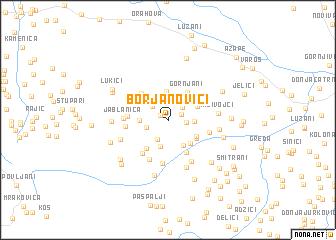 map of Borjanovići